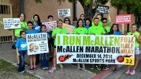 Parade Walkers promoting McAllen Marathon 2014