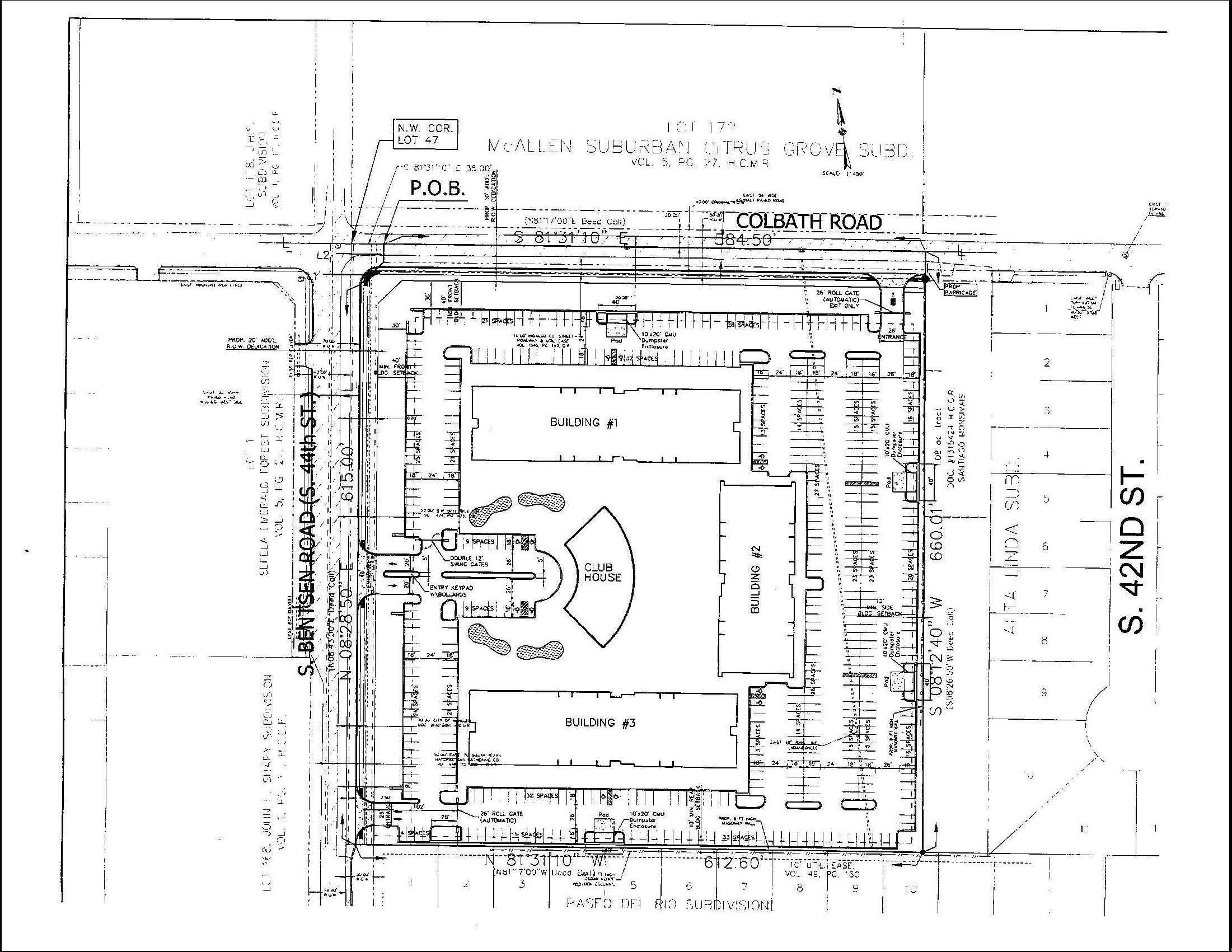 Example of a site plan